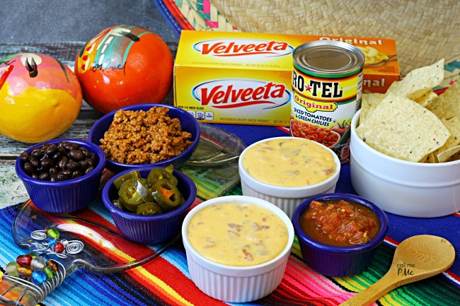Famous Queso Dip Recipe - easy cheesy dip with VELVEETA AND RO*TEL