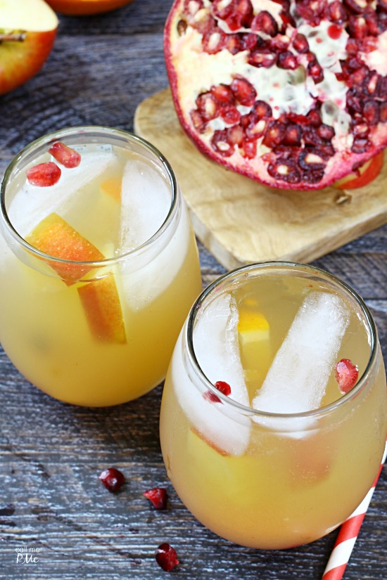 Sparkling Pomegranate Fruit Sangria