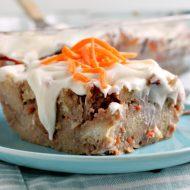 CREAM CHEESE GLAZED CARROT CAKE BREAD PUDDING RECIPE
