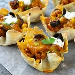 Sloppy Joe Wonton Cups