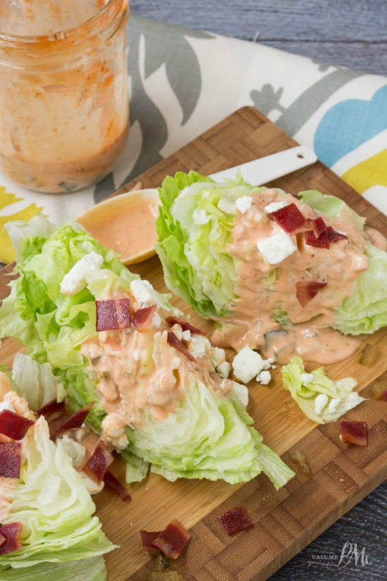 Homemade Sriracha Thousand Island Dressing Wedge Salad Call Me Pmc