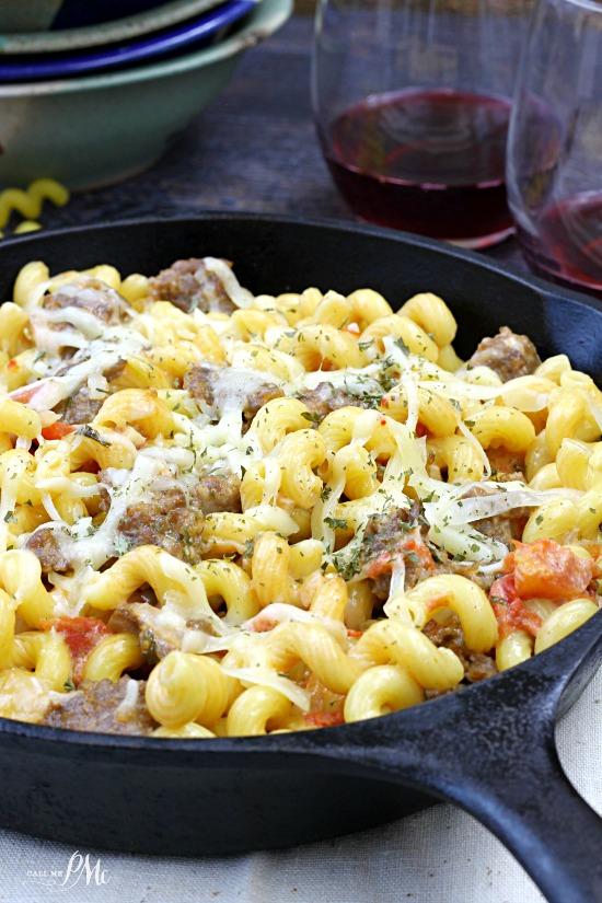 Italian Sausage in Tomato Cream Sauce Pasta