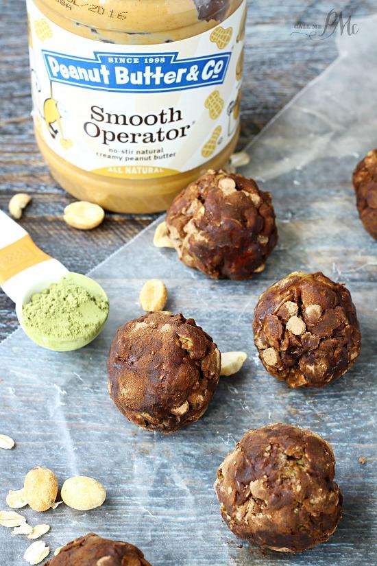 Matcha Peanut Butter Energy Balls