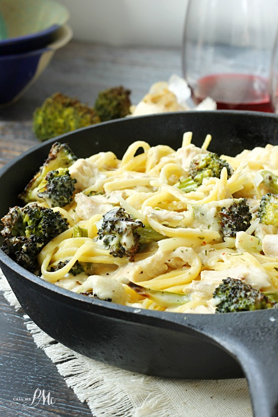 Roasted Broccoli Chicken Alfredo creamy alfredo mixed with flavorful chicken and roasted broccoli makes a quick, mouth-watering dinner.