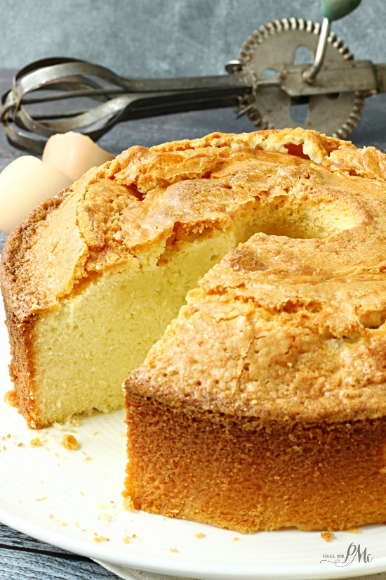 Homemade Whipping Cream Pound Cake