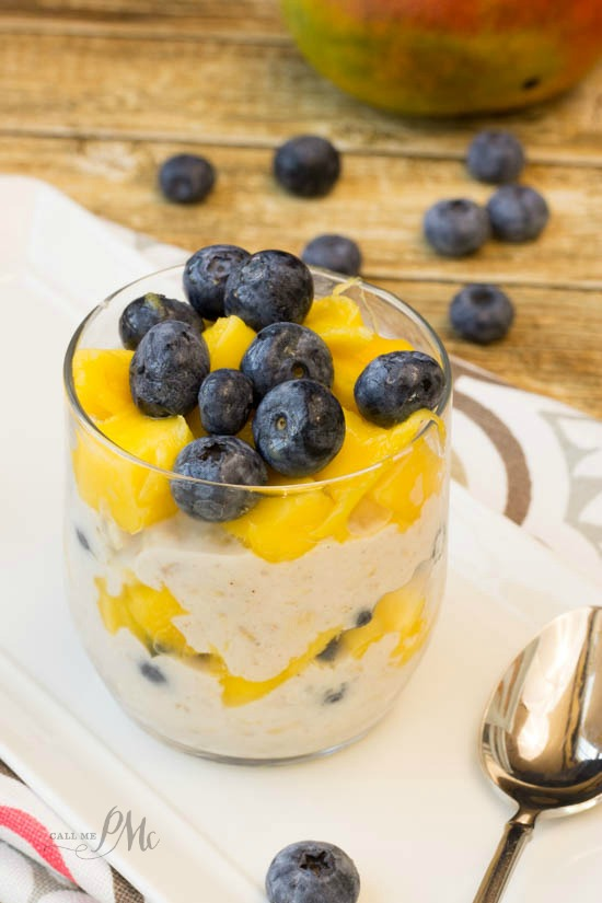 Blueberry Mango Overnight Oats Parfait