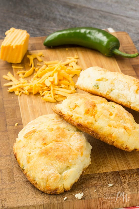 Cheddar Jalapeno Cornbread Biscuits