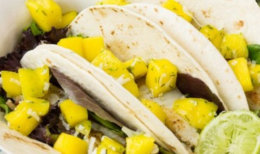 Fish Tacos with Mango Coconut Lime Salsa