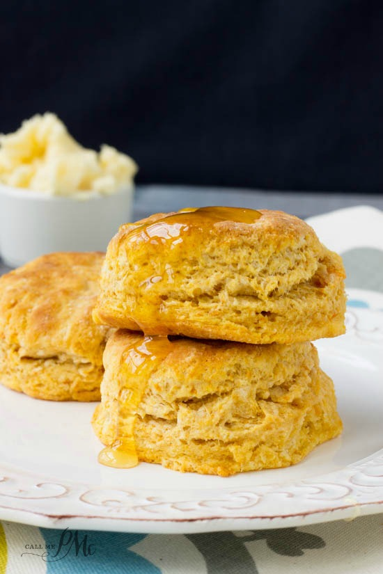 Old Fashioned Homemade Sweet Potato Biscuits with Honey Butter are buttery, slightly sweet, and pillowy soft.