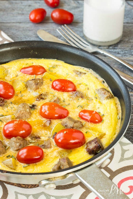 Sausage Potato Omelet