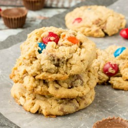 Soft Peanut Butter Oatmeal Cookie Recipe