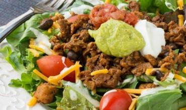 Southwest Salad with Chipotle Black Bean Crumbles