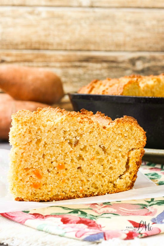 I have a new favorite recipe and it's this Sweet Potato Sour Cream Cornbread Recipe. The sweet potatos adds just enough unique flavor with pumpkin pie spice bringing a little kick to make this cornbread outstanding.