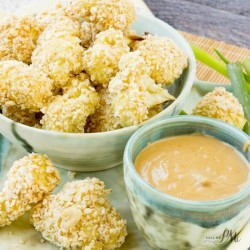 Baked Breaded Cauliflower Bites