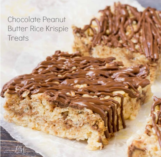 Cut Bhocolate Peanutter Rice Krispie Treats are wonderfully easy and perfect for any occasion. Put this no-bake dessert in your recipe box, I guarantee you'll make it again and again.