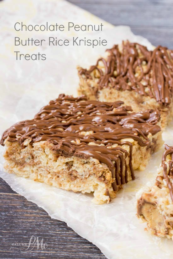 Chocolate Peanut Butter Rice Krispie Treats 187 Call Me Pmc
