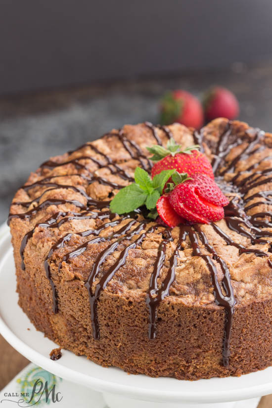 Chocolate Pound Cake recipe is dense, moist and lightly chocolate flavored. This classic cake recipe has a tender texture and small crumb and perfect for chocolate lovers!
