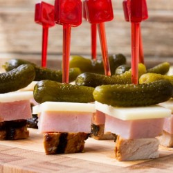 Cuban Sandwich on a Stick Appetizer