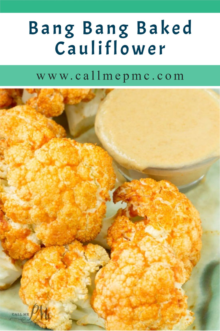 Bang Bang Baked Cauliflower Bites with Peanut Butter Dipping Sauce is spicy and full of flavor. A popular restaurant appetizer made healthier! Just three ingredients make up my bang bang sauce so it's easy to recreate at home. #plantpower #foodgawker #plantbased #whatveganseat #easyrecipes #veganrecipes #foodphotography #foodblogfeed #mealprep #heresmyfood #plantbased #cleaneats #forkyeah #foodandwine #feedfeed #glutenfree #cauliflowerwings #healthyrecipe #makesmewhole via @pmctunejones