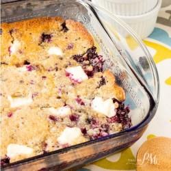 Blueberry Cream Cheese Dump Cake