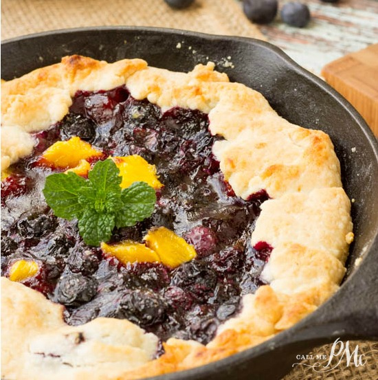 This inventive dessert, Blueberry Mango Cobbler Recipe, has a buttery crust filled with fresh, sweet blueberries and mangos. It's indulgent and elegant yet easy to make with my No Fail Pie Crust.