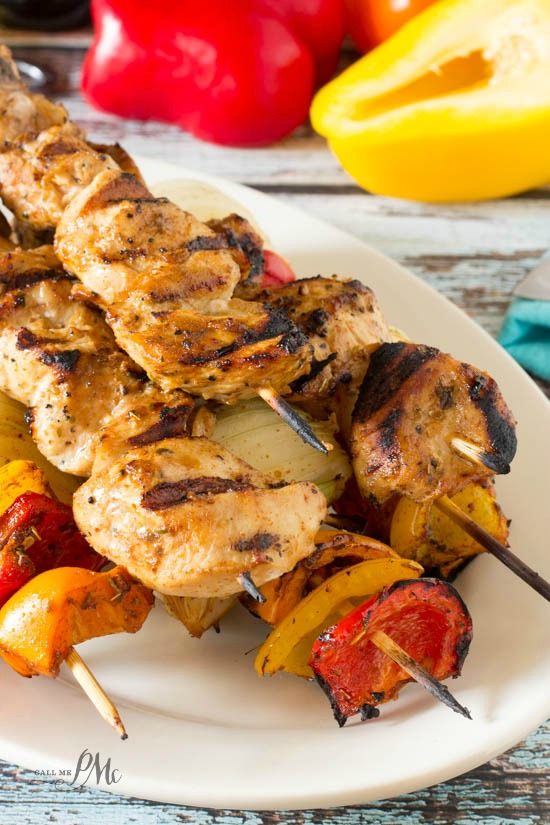 Chicken Fajitas on a Stick are a fun and festive way to serve fajitas! They are great an appetizer or a meal and ready in less than 10 minutes!