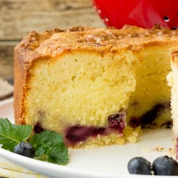 Fresh Blueberry Pound Cake Recipe