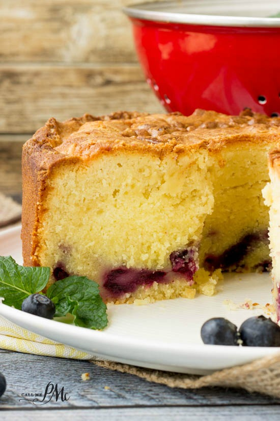 Fresh Blueberry Pound Cake Recipe easy homemade dessert recipe!