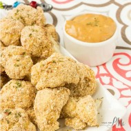 Skinny Baked Breaded Cauliflower with Almond Butter Sauce