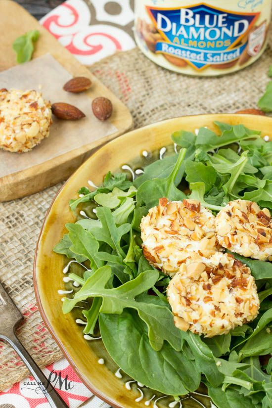 Almond Crusted Goat Cheese recipe 3w
