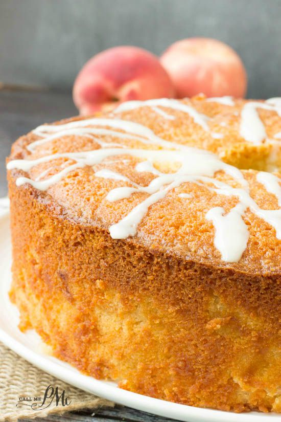 Two Step Fresh Peach Pound Cake Recipe