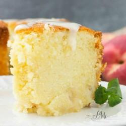 Two Step Fresh Peach Pound Cake