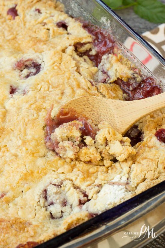 Easy Strawberry Dump Cobbler is easy and delicious!