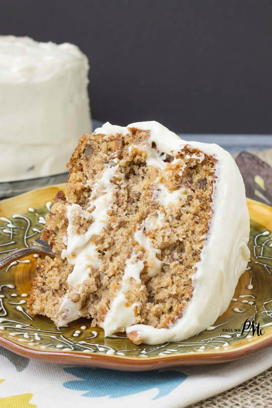 Old Fashioned Banana Layer Cake with Cream Cheese Frosting #PAMCookingSpray #ad a classic banana layer cake recipe made in simple old-fashioned style like Grandma used to bake.