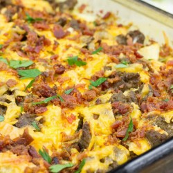 Overnight Sausage Egg Breakfast Casserole