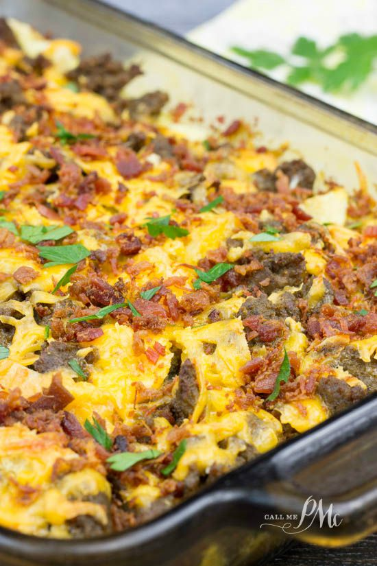 Overnight Sausage Egg Breakfast Casserole is a user-friendly casserole recipe that's simple to put together and tastes amazing!