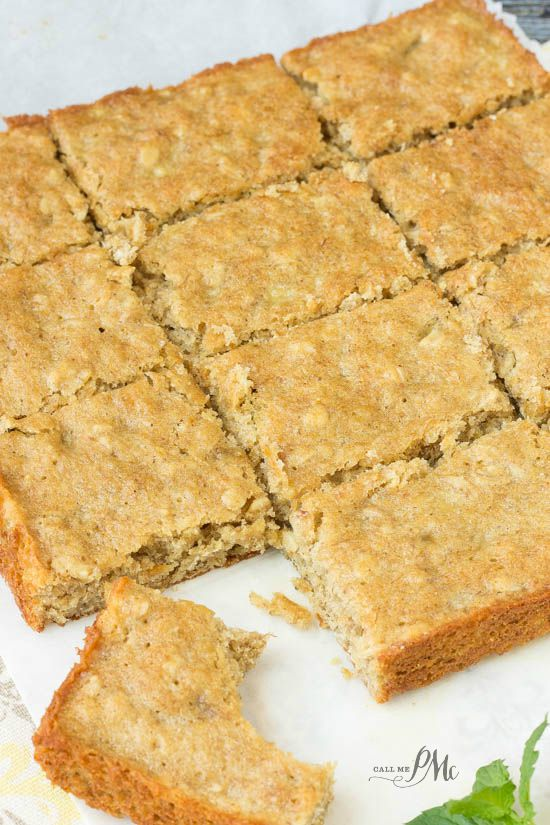 homemade peanut butter oatmeal breakfast blondies recipe move over boring breakfast, there's a fun new treat in town!
