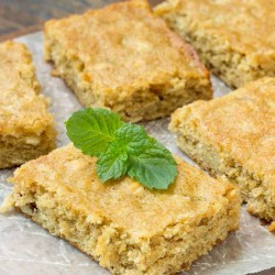 homemade peanut butter oatmeal breakfast blondies