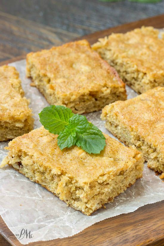 Homemade Peanut Butter Oatmeal Breakfast Blondies recipe easy and yummy, my family loves these. They're also great for my son's campouts.