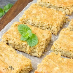Peanut butter breakfast blondies