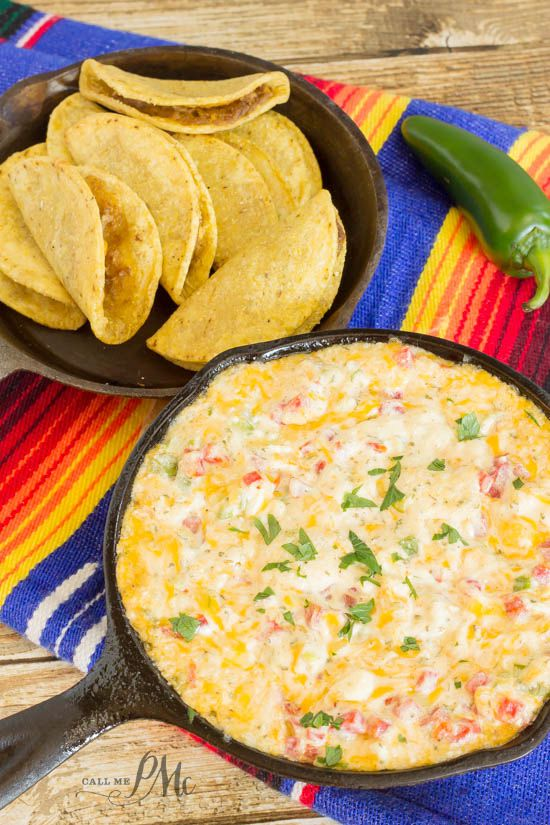 Baked Tex-Mex Pimiento Cheese Dip Recipe holy crap this dip is awesome!