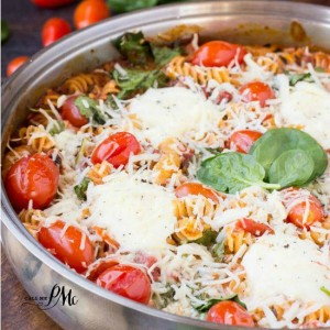 One Pan 30 Minute Spinach Cheese and Fire Roasted Tomato Pasta s