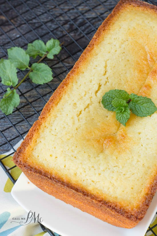 Classic Ricotta Pound Cake recipe is buttery and moist with a soft interior and crispy 'crust'.