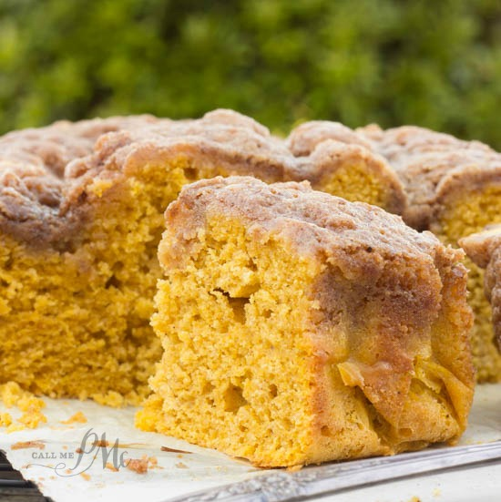 Easy Buttermilk Pumpkin Coffee Cake with Brown Sugar Streusel Recipe - the perfect Thanksgiving morning breakfast