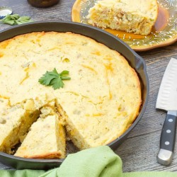 Green Chile Bacon Cornbread