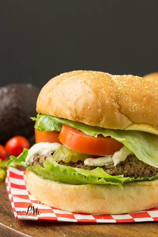 Spicy Homemade Black Bean Veggie Burger with Avocado Cream Sauce recipe will satisfy even the most ardent meat eater! These burgers taste divine!