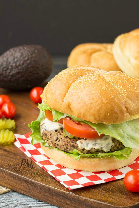 Spicy Homemade Black Bean Veggie Burger with Avocado Cream Sauce recipe this is the ultimate black bean burger recipe, it's healthy, hearty and cheaper than meat.