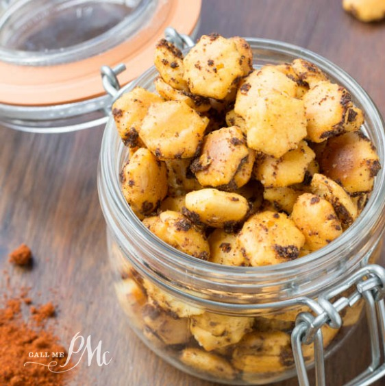 Spicy Taco Oyster Crackers recipe - buttery and spicy
