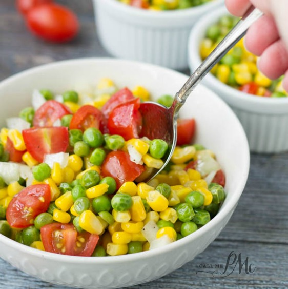 Sweet and Sour Marinated English Pea and Corn Salad recipe s