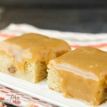 loaded peanut butter cup peanut butter blondies with peanut butter frosting